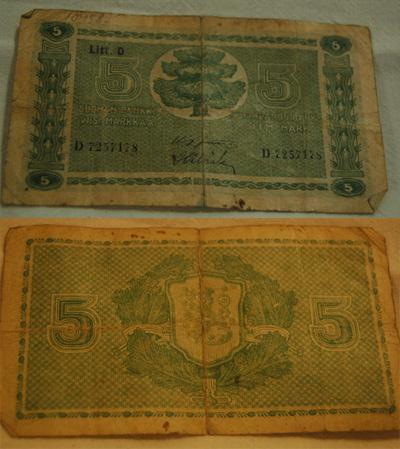 10458 Viiden markan seteli