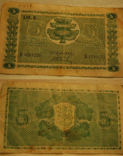 10459 Viiden markan seteli