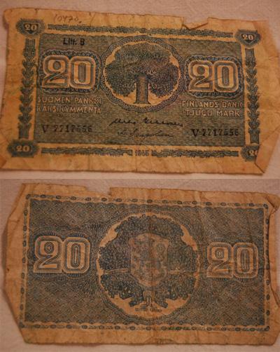 10470 Kahdenkymmenen markan seteli